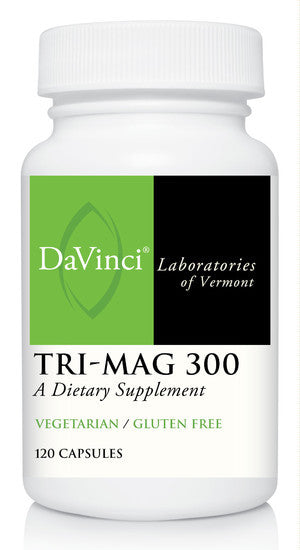 Davinci Labs TriMag 300, Helps Cardiovascular Health, Heart Rhythms, Supports Strong' Healthy Bones, Maintains Normal Blood Pressure, 120 Veggie Capsules