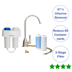 Austin Springs Undercounter Water Filter with Chrome Faucet AS-DW-UC-CHR - NutritionalInstitute.com