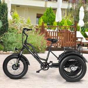"500 W Electric Adults Tricycle with 20"" Fat Tire and Lithium Battery SP36308"