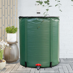 60 Gallon Portable Collapsible Rain Barrel Water Collector - NutritionalInstitute.com