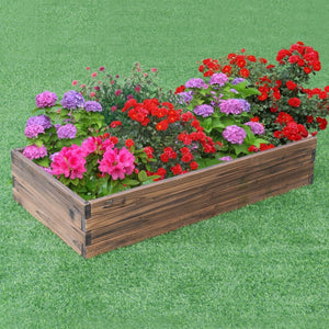 Elevated Wooden Garden Planter Box Bed Kit - NutritionalInstitute.com