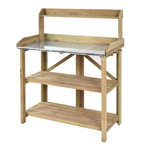 Garden Wooden Planting Bench Work Station - NutritionalInstitute.com