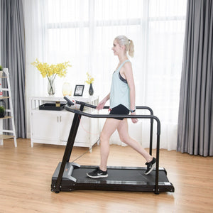Goplus Old People Treadmill with Extra-long Handles SP35623