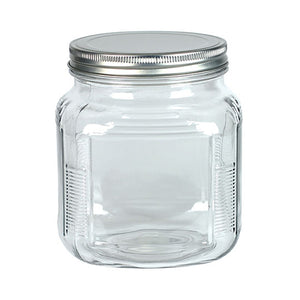 Accessories Glass Jar With Metal Lid 32 Ounce OC