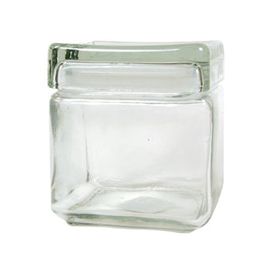 Accessories Square Glass Jar with Glass Lid 32 Ounce OC