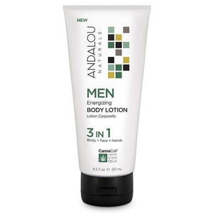 Andalou Naturals CannaCell Men's 3in1 Energizing Bdy Lotion 8floz 234154 OC