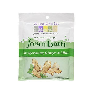 Aura Cacia Ginger & Mint Foam Bath 2.5 oz 188577 OC