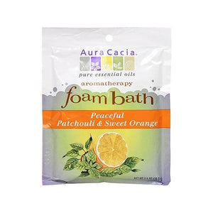 Aura Cacia Patchouli & Sweet Orange Foam Bath 2.5 oz 188578 OC