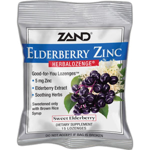 Zand Herbal Elderberry Zinc Herbalozenge 15 loz Z0025 ASD ME