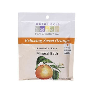 Aura Cacia Sweet Orange Mineral Bath 2.5 oz 188608 OC