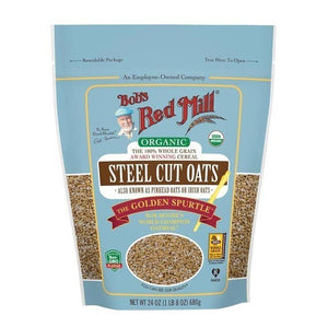 Bob's Red Mill Organic Steel Cut Oats 24 oz, resealable bag 234174 OC - NutritionalInstitute.com