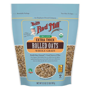 Bob's Red Mill Organic Thick Rolled Oats 32 oz.resealable bag 234175 OC - NutritionalInstitute.com