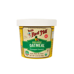 Bob's Red Mill Pineapple Conut Organic Oatmeal Cups 12, 2.43 oz cups 233205 OC - NutritionalInstitute.com