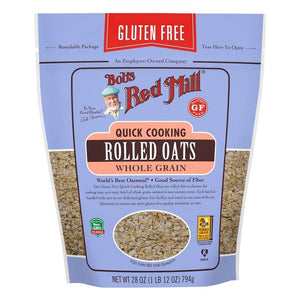 Bob's Red Mill Quick Rolled Oats 28 oz, resealable bag 234176 OC - NutritionalInstitute.com