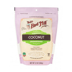 Bob's Red Mill Unsweetened Shredded Coconut 12 oz 233607 OC - NutritionalInstitute.com