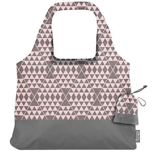 ChicoBag Pink & Gray Triangles Impression Abstract Reusable Shopping Bag OC
