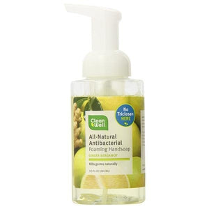 CleanWell CleanWell Ginger Bergamot Foaming Hand Soap 9.5 fl oz 225963 OC