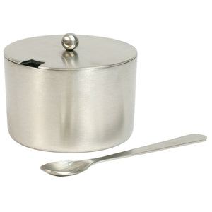 Culinary Accessories Stainless Steel Salt Cellar with Spoon 2 oz 223873 OC