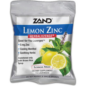 Zand Herbal Lemon Zinc Herbalozenge 15 loz Z0023 ASD ME