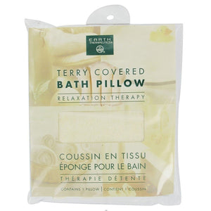 Earth Therapeutics Natural Terry Bath Pillow 201640 4 PACK OC