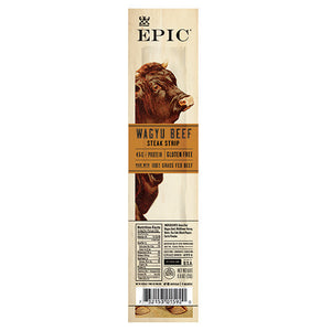 Epic Epic Wagyu Beef Steak Snack Strips 20 0.8 oz. strips 231877 OC