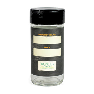 Frontier Labelled Glass Jar with Large-Hole Fliptop Cap 12 ct 1 oz.8750 OC