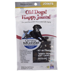 Gray Muzzle Gray Muzzle Old Dogs! Happy Joints! 90 soft chews 227281 OC