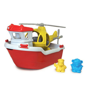 Green Toys Bath Water Play Rescue Boat Helicopter for 2+ years 230555 OC