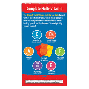 Hero Nutritional Products Yummi Bears Multi-Vitamin Mineral 90 count 206267 OC