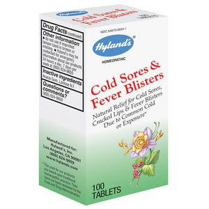 Hyland's Homeopathic Combinations Cold Sores Fever Blisters 100 tab OC