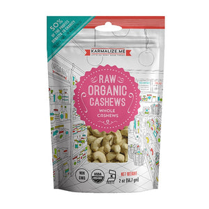 Karmalize.Me Organic Raw Cashews 2 oz 230032 OC