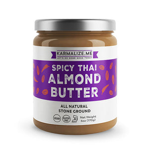 Karmalize.Me Spicy Thai Almond Butter 6 oz 232511 OC