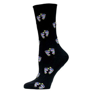Maggie's Functional Organics Black STAND Cotton Trouser Socks 10-13 OC - NutritionalInstitute.com