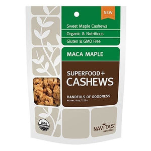Navitas Organics Maca Maple Cashews 4 oz 231137 OC