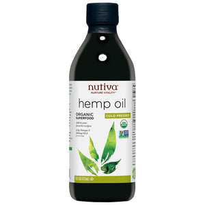 Nutiva Organic Cold Pressed Hemp Oil 16 fl oz 218568 OC
