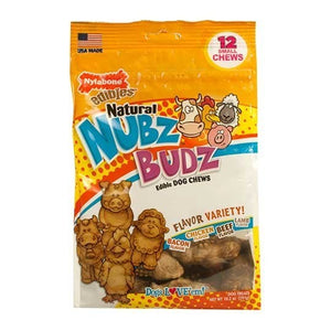 Nylabone Products Nubz Budz Variety Dog Chews 12 c 231921 OC
