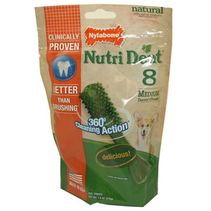 Nylabone Products Nylabone Medium Nutri Dent Chews 8 count 221099 OC