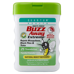 Quantum Buzz Away Extreme Towelettes 25 towelettes 223298 OC
