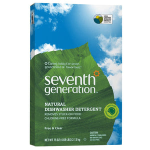 Seventh Generation Free Clear Automatic Dishwasher Powder 75 oz.220962 OC