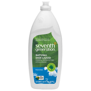 Seventh Generation Free Clear Dish Liquid 25fl.oz.218099 OC