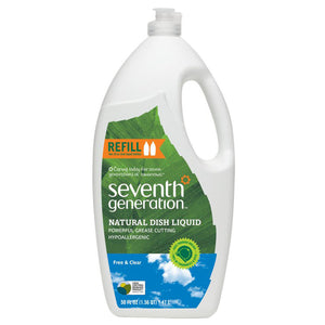 Seventh Generation Free Clear Dish Liquid 50fl.oz.215096 OC