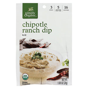 Simply Organic Chipotle Ranch Dip 1.00 oz 15751 OC