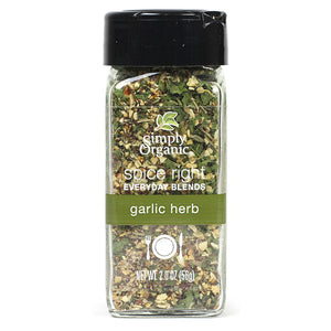 Simply Organic Simply Organic Spice Right Garlic & Herb 2.0 oz 15744 OC