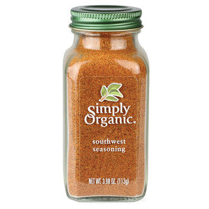 Simply Organic Southwest Seasoning 3.98 oz 19563 OC