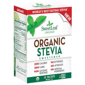 SweetLeaf Organic Stevia Sweetener 35 packets 229113 OC