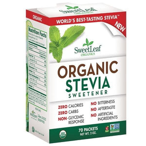 SweetLeaf Organic Stevia Sweetener 70 packets 229114 OC