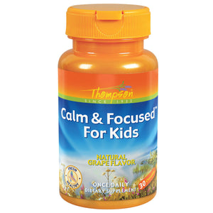 Thompson Grape Flavored Calm Focused Chewables for Kids 30 chewables OC - NutritionalInstitute.com