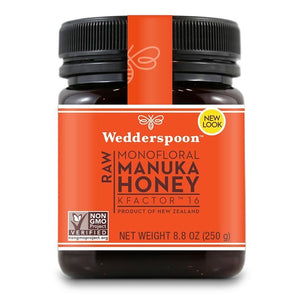 Wedderspoon Organic KFactor 16 Manuka Honey 8.8 oz Jar OC