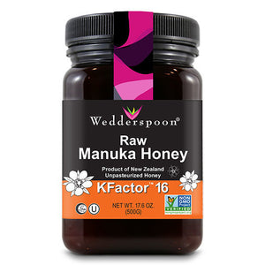 Wedderspoon Organic Manuka KFactor 16 Honey 17.6 oz Jar OC