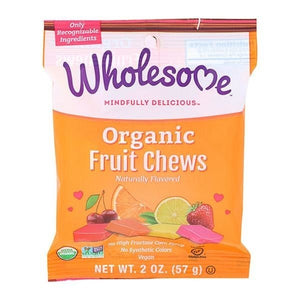 Wholesome Sweeteners Organic Candy Fruit Chews 2 oz OC 11.19+SD - NutritionalInstitute.com